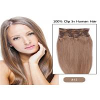 Buy 100% Unprocessed Brown Clip In human Hair Extensions Real Indian Virgin Hair at wholesale prices