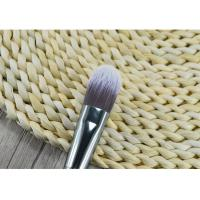 Quality Wooden Handle Synthetic Fiber Foundation Brush / Angular Makeup Brush for sale