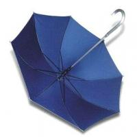 Quality Straight Umbrella with Aluminum Crook Handle and Shaft for sale