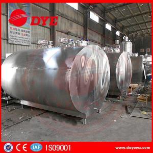 Quality 500-10000L Milk Cooler Tank Refrigerated Milk Tank Semi - Automatic for sale