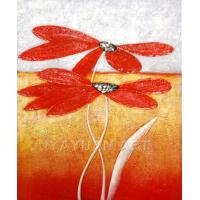 Quality flower painting wall art painting with frame for sale