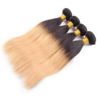 Buy 7A Ombre Human Hair Extensions Brazilian Virgin Hair Straight Color 1B / 27 at wholesale prices