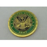 Quality Antique Brass Plating This We Will Defend custom made coins By Brass Die Stamped for sale