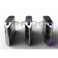 Quality Full Automatic Flap Barrier Gate With Reader Card / Fingerprint Recognition For Gym / Club  Entrance for sale