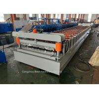 Quality Steel Metal Roof Sheet Making Machine 3kw Power High Grade Rigidity for sale