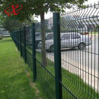 Quality 200*55mm Green Pvc Coated Welded Wire Mesh Panel High Anti - Corrosion for sale
