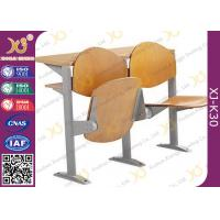 Quality Melamine Desktop Foldable College Classroom Furniture , Lecture Theatre Chairs for sale