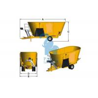 Quality Ration Eco Animal Feed Mixer Vertical Type For Meadow Stable Performance for sale