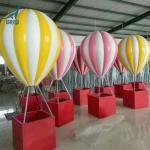 Quality Custom giant fiberglass cartoon statue hot air balloon for sale