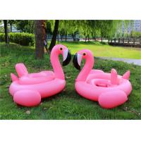 Quality Kids Swimming Pool Floats Pink Flamingo Pool Toy Waterproof / UV Resistant for sale