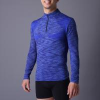 Buy cheap Active men's sport coat, XLSC002, melange blue, seamless stretch long sleeve,T from wholesalers