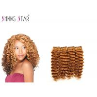 China Double Drawn Malaysian Deep Wave Hair Bundles Can Be Iron Flat Color 27 on sale