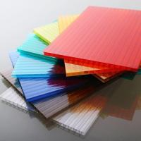 Quality Customized Length Flat Polycarbonate Roofing Sheets For Construction / Decoration for sale