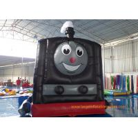 Quality Train Shape Inflatable Air Bouncer Printing Art Panel For Business Hire for sale