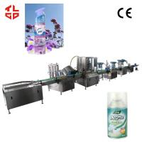 Quality Pneumatic Aerosol Spray Filling Machine For Air Freshener Fully Automatic 2000-3200cans/Hr for sale