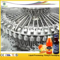 Quality PET / Plastic Bottle Juice Filling Machine , Automatic Rotary Juice Filling Equipment for sale