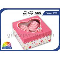 Quality Custom Printing Folding Cup Cake / Dessert Paper Box with Display Window for sale