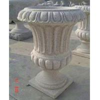 Quality Stone Outdoor Flowerpots, Grey Granite Flower Bed for Decoration for sale