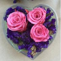Buy cheap Transparent Acrylic Storage Box Flower Container Gift Luxury Packaging Heart from wholesalers