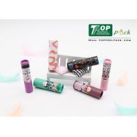 Quality 4g Lipstick Plastic Cosmetic Tubes Plastic Slim Printed Design ISO SGS Approval for sale