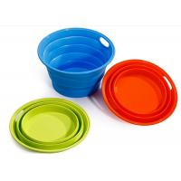 Quality ODM / OEM Green Silicone Collapsible Bucket , Silicone Fruit Bucket BPA Free for sale