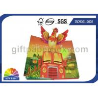 Quality Custom Pop Up Book Printing Services / Children Reading Book Printing for 3D Book for sale