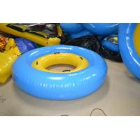Quality Yellow / Blue Trapualin Infalatble Water Sport Toys 2.5m / 5m For Swimming Pool for sale
