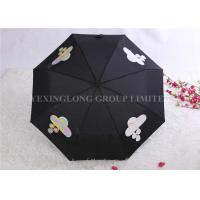 Quality Tri Fold Unique Rain Umbrellas Water Changing Umbrella That Changes Color In The Rain for sale