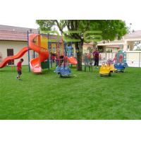 Quality Outdoor Artificial Grass For Playground , Fake Grass For Playground 30mm Height for sale