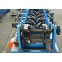 China CZ Shapes Interchangeable Purlin Roll Forming Machine 8-12 M / Min With PLC on sale