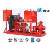 Quality Single Stage End Suction Fire Pump 250GPM@125PSI With Diesel Engine Drive for sale