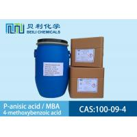 Quality White crystalline powder 	P-anisic Acid 100-09-4 99.0% purity with stock for sale