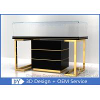 Buy Custom Commercial Mirror Gold Jewelry Display Case With Cabinet at wholesale prices