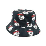 Quality 100% cotton cheap custom bulk printed folding men bucket cap bucket hats size 58-60  Digital printing for sale