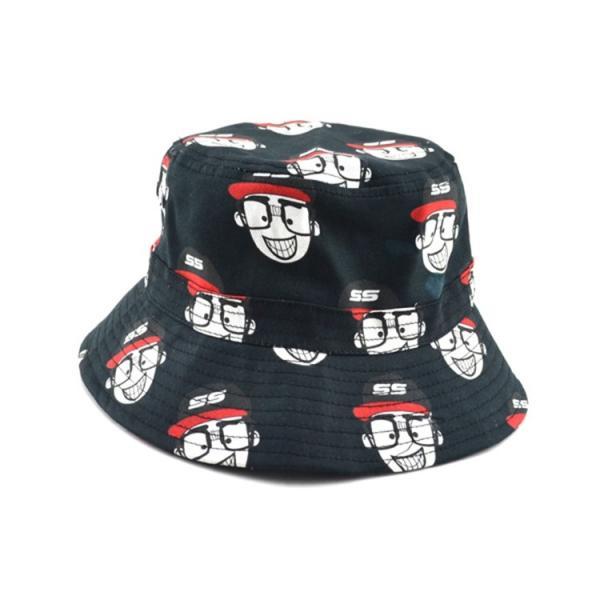 Buy 100% cotton cheap custom bulk printed folding men bucket cap bucket hats size 58-60  Digital printing at wholesale prices