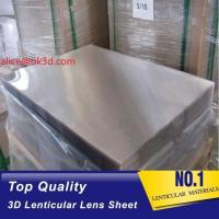 Quality 3d lenticular lens sheet  70LPI PET 0.9MM 60X80CM for 3d lenticular printing by injekt print and UV offset print for sale
