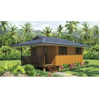 China Light Steel Frame wooden design,earthquake proof cyclone proof, Fiji style prefab Bungalow on sale