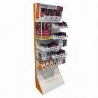 Quality Advertising Cosmetic Showcases for Colorful Printing with Display Stands in Stores and Supermarkets for sale