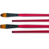 Quality Filbert / Flat High End Artist Painting Brushes With Black Copper - Plated Ferrule for sale