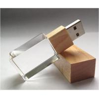Quality Crystal Thumb Drive Usb Flash Memory Drive Silk Imprint  Laser Engrave for sale