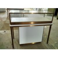 Quality Durable Jewelry Store Fixtures  / Store Display Cases With Stainless Steel Frame for sale