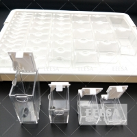 Quality 42 Slots Clear 4 Sizes 3D Jewelry Decorative Acrylic Bead Container Box for sale