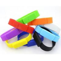 Quality Bracelet Silicone 8GB USB 2.0 Flash Drive Water Resistant Encrypted for sale