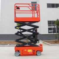 Buy cheap Portable Electric Scissor Lift Machine Movable Hydraulic Lifting Platform from wholesalers