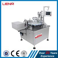 China roll-on glass bottles filling inserting roller capping machine fully automatic perfume oil fragrance filler capper line on sale