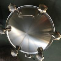 Quality Sanitary Stainless Steel Inwards Opening Elliptical Manways Manlids for sale