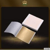 Quality Directly hot sales gliding champagne decorative gold leaf sheet 9*9 cm for decoration for sale