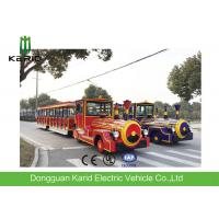 Quality DC Motor 42 Seater Electric Trackless Train For Amusement Park / Shopping Malls for sale
