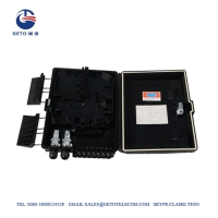 Quality OEM Outdoor Waterproof Black ABS FDB Fiber Distribution Box 16 Cores for sale