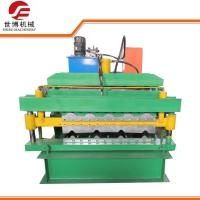 Quality Color Coated IBR Double Deck Roll Forming Machine Automatic PLC Control For Roofing Tile for sale